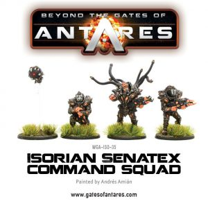Warlord Games Beyond the Gates of Antares  Isorian Senatex Isorian Sentax Command Squad - WGA-ISO-21 - 5060393703563