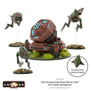 Warlord Games Beyond the Gates of Antares  Virai Dronescourge Virai Dronescourge Deep Mining Team (Fractal Disintegrator) - 502416504 - 5060572500877
