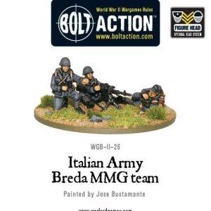 Warlord Games Bolt Action  Italy (BA) Italian Army Breda MMG Team - WGB-II-26 - 5060200849569