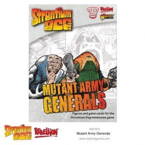 Warlord Games Strontium Dog  Strontium Dog Strontium Dog: Mutant Army Generals - 642215012 - 5060572502499