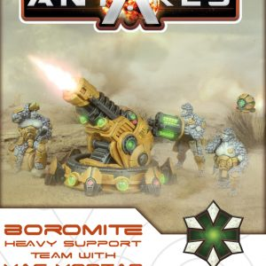 Warlord Games Beyond the Gates of Antares  Boromite Guilds Boromite Heavy Support team with Mag Mortar - 502412007 - 5060393709107