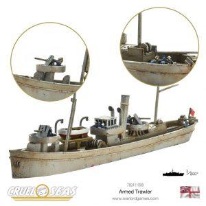 Warlord Games Cruel Seas  Cruel Seas Cruel Seas: Armed Trawler - 782411008 - 782411008