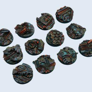Micro Art Studio   Derelict Bases Derelict Bases, Round 25mm (5) - B04121 - 5900232358465