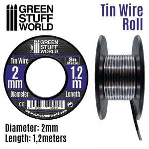 Green Stuff World   Metal Sheets & Wire Flexible tin wire roll 2mm - 8436574507058ES - 8436574507058