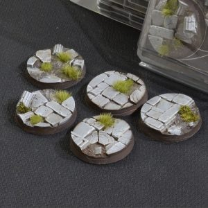 Gamers Grass   Battle-ready Temple Bases Temple Bases Round 40mm (x5) - GGB-TR40 -