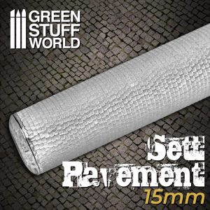 Green Stuff World   Rolling Pins Rolling Pin SETT PAVEMENT 15mm - 8436574507690ES - 8436574507690