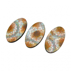 Micro Art Studio   Mosaic Bases Mosaic Bases, Oval 75mm (2) - B01175 - 5900232355198