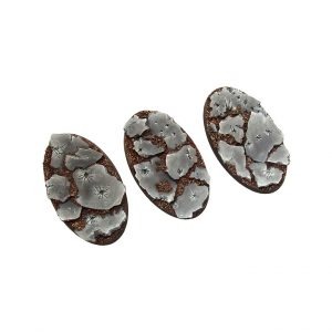 Micro Art Studio   Winter Shale Bases Winter Shale Bases, Oval 75mm (2) - B01875 - 5907652560591