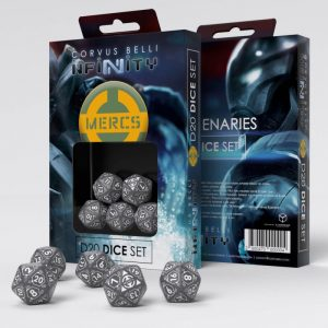 Q-Workshop Infinity | Infinity RPG  Infinity RPG Mercenaries D20 Dice Set - 285047 - 2850470000004