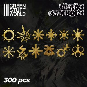Green Stuff World   Etched Brass Etched Brass Chaos Runes and Symbols - 8436574504699ES - 8436574504699
