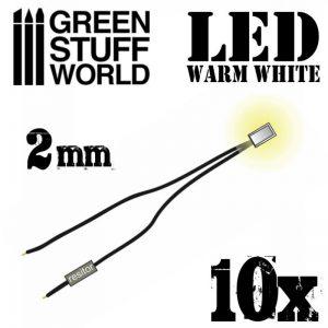 Green Stuff World   Lighting & LEDs LED Lights Warm White - 2mm - 8436554363834ES - 8436554363834
