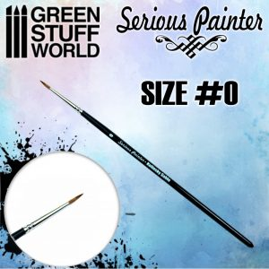 Green Stuff World   Green Stuff World Brushes Serious Painter Kolinsky Sable Brush - Size 0 - 8436574502619ES - 8436574502619