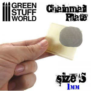 Green Stuff World   Texture Plates / Presses Texture Plate - ChainMail - Size S - 8436554368723ES - 8436554368723