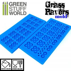 Green Stuff World   Mold Making Silicone molds - Grass Paver - 8436554369089ES - 8436554369089