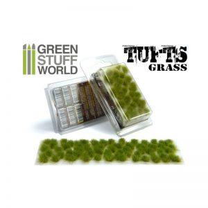 Green Stuff World   Tufts Grass TUFTS - 6mm self-adhesive - REALISTIC GREEN - 8436554362455ES - 8436554362455