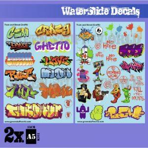 Green Stuff World   Decals Waterslide Decals - Train and Graffiti Mix - 8436574503661ES - 8436574503661