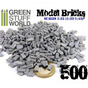 Green Stuff World   Modelling Bricks Model Bricks - Grey x500 - 8436554367023ES - 8436554367023