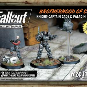 Modiphius Fallout: Wasteland Warfare  Fallout: Wasteland Warfare Fallout: Brotherhood of Steel Knight-Captain Cade & Paladin Danse - MUH051238 - 5060523340279