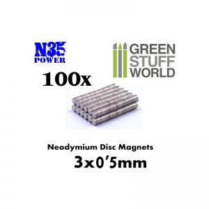 Green Stuff World   Magnets Neodymium Magnets 3x0'5mm - 100 units (N35) - 8436554365593ES - 8436554365593