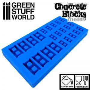 Green Stuff World   Mold Making Silicone molds - Concrete Bricks / Breeze Blocks - 8436554369096ES - 8436554369096