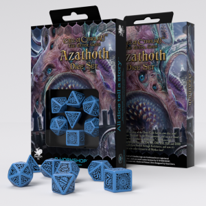 Q-Workshop   Q-Workshop Dice Call of Cthulhu The Outer Gods Azathoth Dice Set (7) - SCTA08 - 5907699493586
