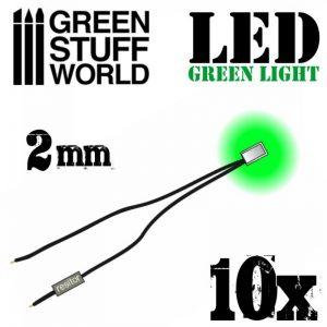 Green Stuff World   Lighting & LEDs LED Lights Green - 2mm - 8436554364138ES - 8436554364138