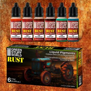 Green Stuff World   Liquid Pigments Liquid Pigments Set - Rust - 8436574506259ES - 8436574506259