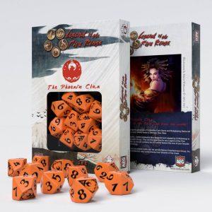 Q-Workshop   Q-Workshop Dice Legend of the Five Rings Phoenix Clan 10D10 Dice (10) - SL5R61 - 5907699492329