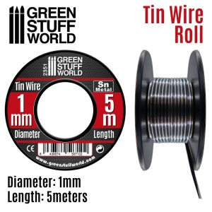 Green Stuff World   Metal Sheets & Wire Flexible tin wire roll 1mm - 8436574507102ES - 8436574507102