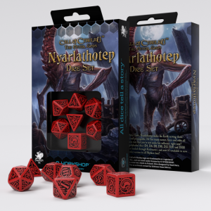 Q-Workshop   Q-Workshop Dice Call of Cthulhu The Outer Gods Nyarlathotep Dice Set (7) - SCTN62 - 5907699493616
