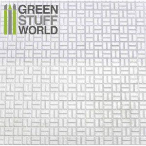 Green Stuff World   Plasticard ABS Plasticard - OFFSET RECTANGLE Textured Sheet - A4 - 8436554361144ES - 8436554361144