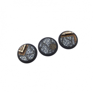 Micro Art Studio   Cobblestone Bases Cobblestone Bases, WRound 50mm (1) - B00343 - 5900232358878