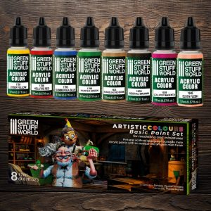 Green Stuff World   Acrylic Paints Paint Set - Basic - 8436574506198ES - 8436574506198