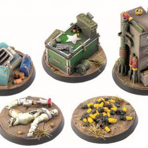 Modiphius Fallout: Wasteland Warfare  Fallout: Wasteland Warfare Fallout: Wasteland Warfare Objective Markers 2 - MUH051777 - 5060523341801