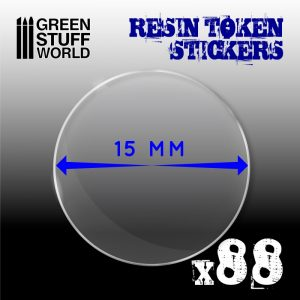 Green Stuff World   Infinity Tokens 88x Resin Token Stickers 15mm - 8436574503920ES - 8436574503920