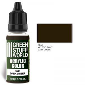 Green Stuff World   Acrylic Paints Acrylic Color DARK UMBER - 8436574502008ES - 8436574502008