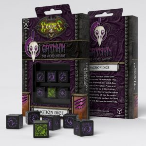Q-Workshop   Q-Workshop Dice Hordes Grymkin D6 Dice (6) - SPHO91 - 5907699493630