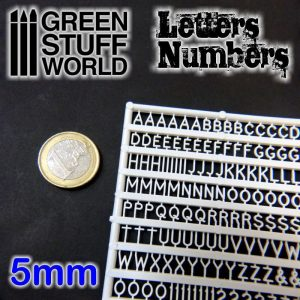 Green Stuff World   Modelling Extras Letters and Numbers 5 mm - 8436554364374ES - 8436554364374