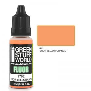 Green Stuff World   Fluorescent Paints Fluor Paint YELLOW-ORANGE - 8436574500615ES - 8436574500615