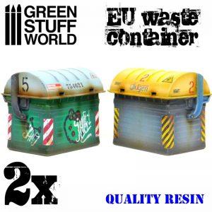 Green Stuff World   Green Stuff World Terrain EU Waste Containers - 8436574503357ES - 8436574503357
