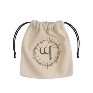 Q-Workshop   Dice Accessories Elvish Beige & black Dice Bag - BELV101 - 5907814951847