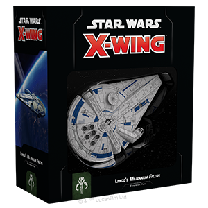 Fantasy Flight Games Star Wars: X-Wing  Scum & Villainy - X-wing Star Wars X-Wing: Lando's Millennium Falcon - FFGSWZ04 - 841333105617