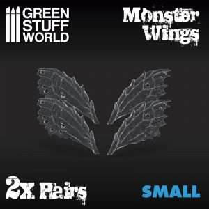 Green Stuff World   Green Stuff World Conversion Parts 2x Resin Monster Wings - Small - 8436574504774ES - 8436574504774