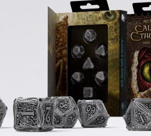 Q-Workshop   Q-Workshop Dice Call of Cthulhu Metal Dice Set (7) - SMCT35 - 5907699493302