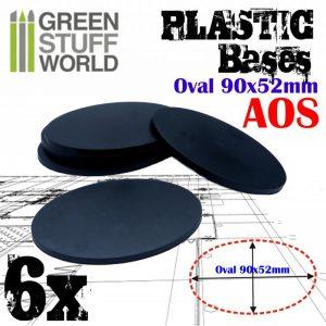 Green Stuff World   Plain Bases Plastic Bases - Oval Pill 90x52mm AOS - 8436574503906ES - 8436574503906