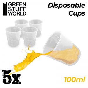 Green Stuff World   Mold Making 5x Disposable Measuring Cups 100ml - 8436574508123ES - 8436574508123