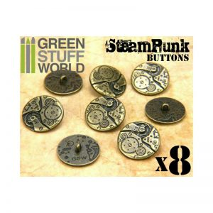 Green Stuff World   Costume & Cosplay 8x Steampunk Buttons WATCH MOVEMENTS - Bronze - 8436554367405ES - 8436554367405