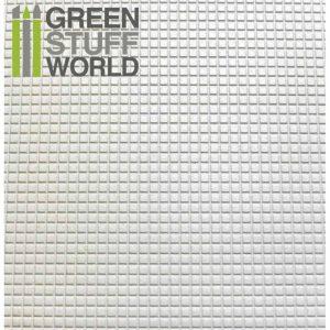 Green Stuff World   Plasticard ABS Plasticard - SMALL SQUARES Textured Sheet - A4 - 8436554361021ES - 8436554361021