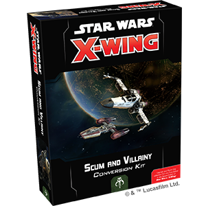 Fantasy Flight Games Star Wars: X-Wing  Scum & Villainy - X-wing Star Wars X-Wing: Scum & Villainy Conversion Kit - FFGSWZ08 - 841333105655