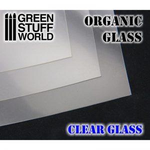 Green Stuff World   Plasticard GSW Organic GLASS Sheet - Clear - 8436554364299ES - 8436554364299